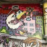 Grafitti unter der Hauptbrücke in Graz
